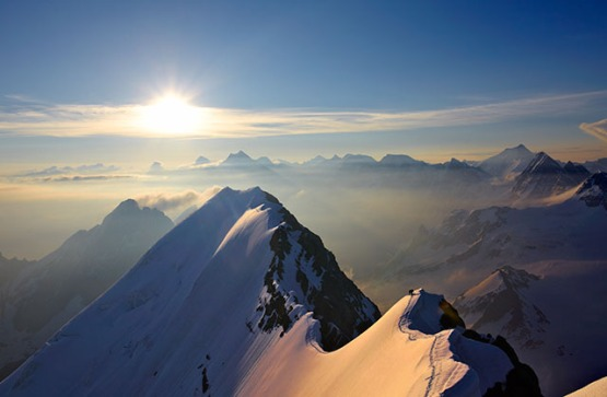 ON THE RIDGE OF BLUMISALP; OBERLAND; SWITZERLAND