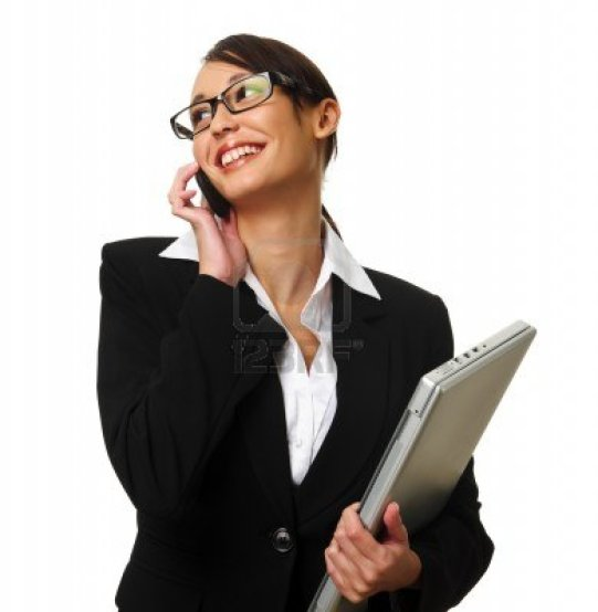 7542152-young-successful-career-woman-holds-her-laptop-and-talks-on-her-mobile-phone