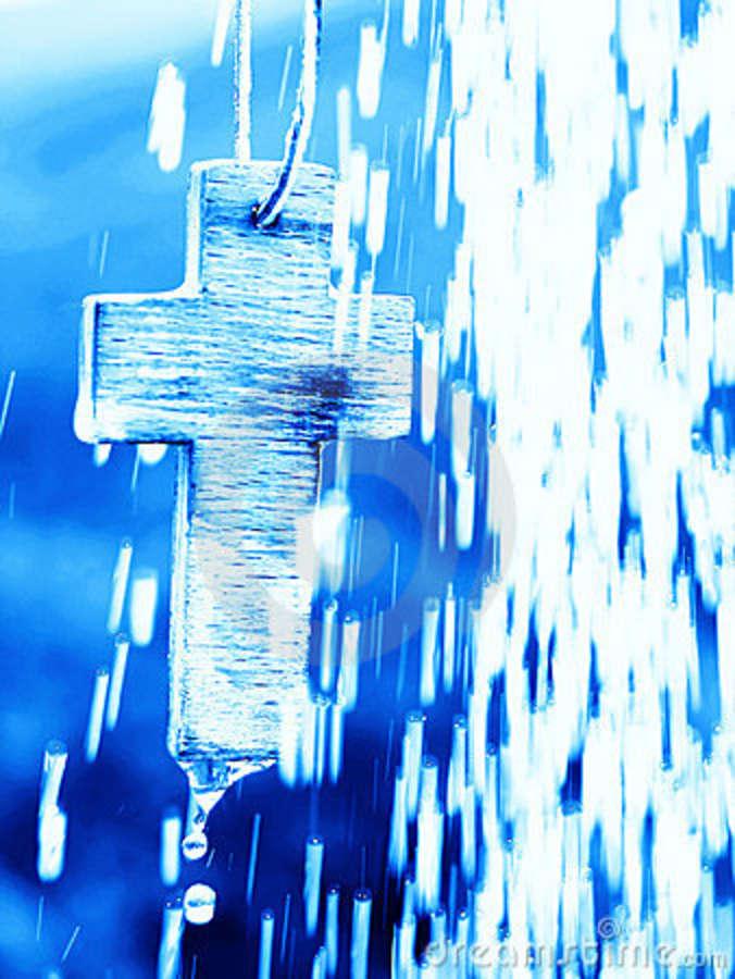 symbol-baptism-cross-under-water-shower-19015854