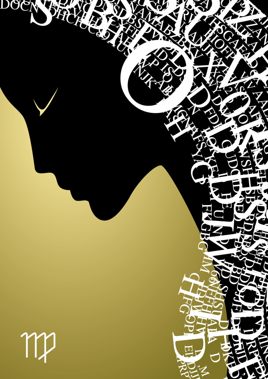zodiac sign virgo- vector illustration