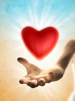 Heart giving