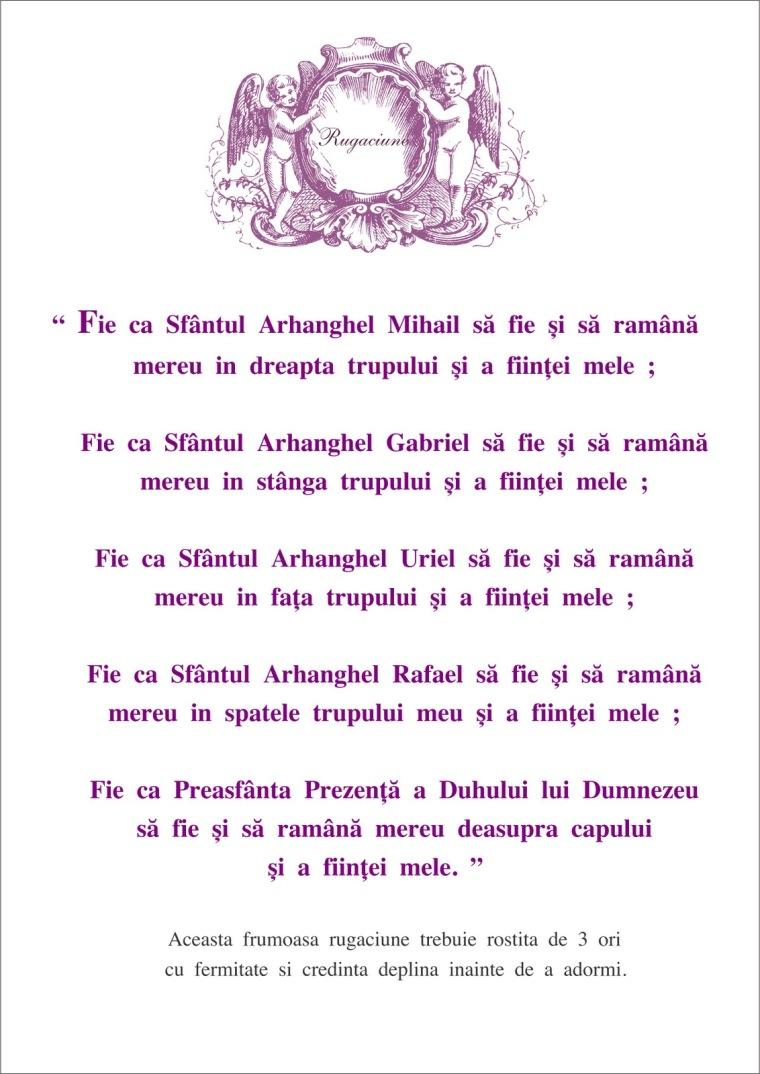 Rugaciune Arhangheli