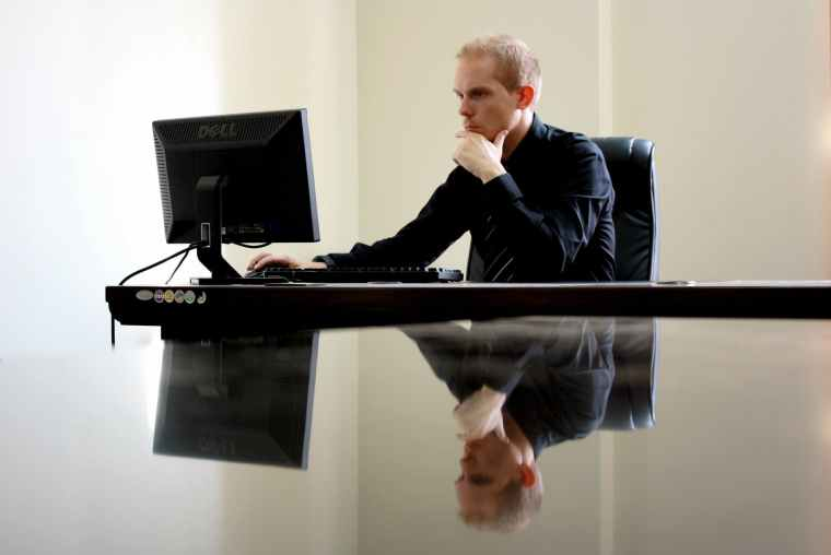 businessman man desk working
